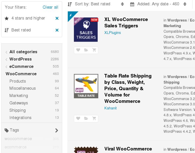 WooCommerce Plggings store